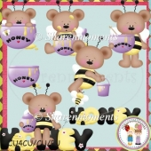 Honey Bee Bears Designer Resource Graphic
