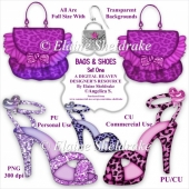 Bags & Shoes - Set One - CU Designer Resource For CU and PU