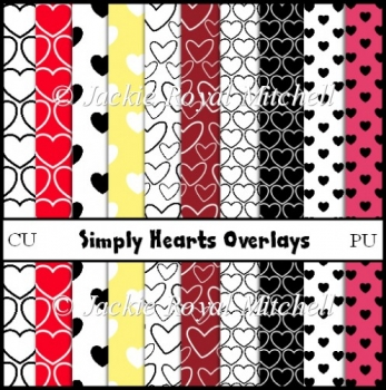 Simply Hearts png Overlays