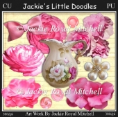 Shabby Pinks Designers pack of elements