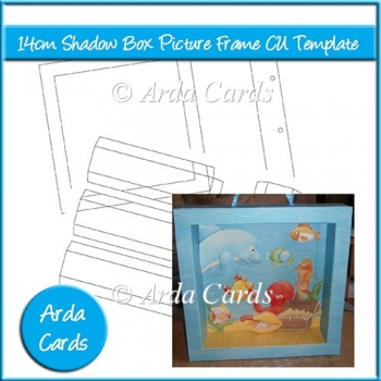 14cm shadow box picture frame cu template 3 50 commercial use