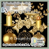 Christmas Candle Setting (Gold)