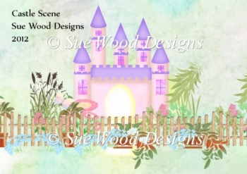 Castle Scene For Card Makers CUse