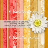 Vintage Elegant 1 Digital Papers A4 Size