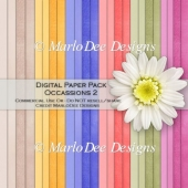 Occassions 2 Card Stock Digital Papers {A4 size}