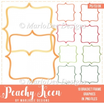 Peachy Keen Bracket Frame Graphics