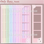 Only Dots Strip Frames - Pastels