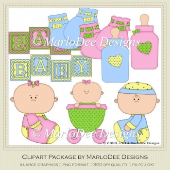 Baby Clip Art Graphics by MarloDee Designs