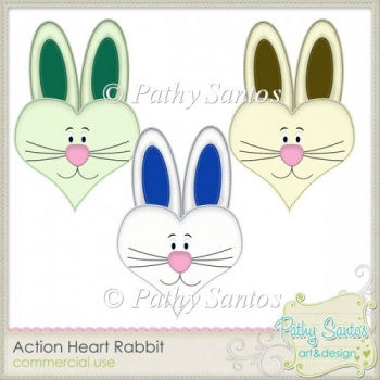 Action Heart Rabbit Pathy Santos - FREE