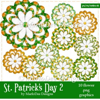 St. Patrick's Day Colors 2 - Flower Graphics 4