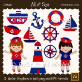 All at sea Clipart Elements