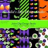 Halloween Party Digital Paper Pack