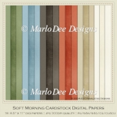 Soft Morning A4 size Card Stock Digital Papers Package
