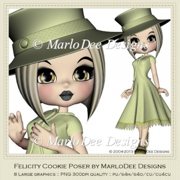 Felicity Cookie Poser Graphics by MarloDee Designs