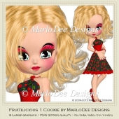 Fruitilicious 1 Cookie Poser Graphics by MarloDee Designs