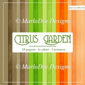 Citrus Garden Card Stock Digital Papers {A4 size}