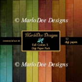 Fall Colors 5 A4 size Digital Papers Package
