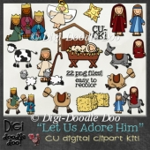 Christmas - Nativity themed - CU clipart