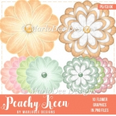 Peachy Keen Unique Flower Graphics