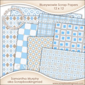 Blueywowie Scrapbook Papers 12 x 12