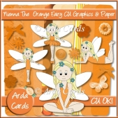 Nienna The Orange Fairy CU Graphics And Paper