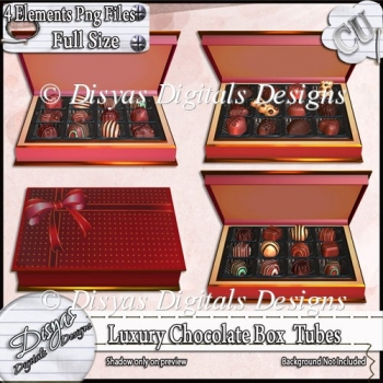 Luxury Chocolate Box Tubes - CU
