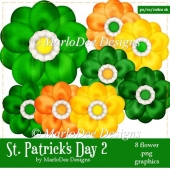 St. Patrick's Day Colors 2 - Flower Graphics 1