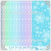 Let It Snow - Blue Papers