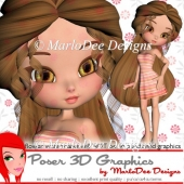 Summer Girl Cookie Poser D1 Graphics Package