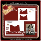 T044 Handbag Purse Template *PNG*