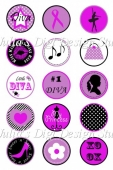 Little Diva Bottlecap Images