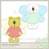 Action Angel Bear by Pathy Santos