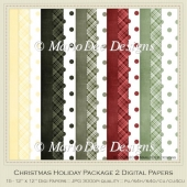 Christmas Holiday Package 1 Digital Papers Pkg 2