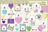 Plushy Polar Bear Love Me Do CU Clipart