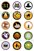 Haunted Halloween Bottlecap Images