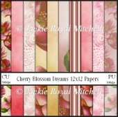 Cherry Blossom dreams 12x12 Scrap Papers
