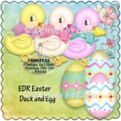 Easter Duck and Egg PS Action