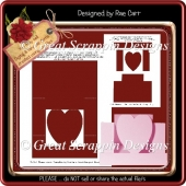 Heart Stepper Template PNG & PDF