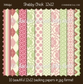 Shabby Chick 12x12 papers