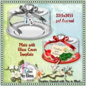 Plate with Glass Cover Template CU