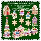 Christmas Gingerbread Clipart - Set One - CU - PNG Clipart
