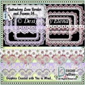 Battenberg Lace Border and Frames Set 4
