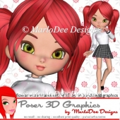 School Girl Cookie Posers D1 Graphics Package
