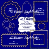 Gold Frames - Set One - CU Designer Resource For CU & PU