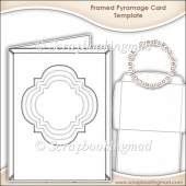 Framed Pyramage Card & Envelope Template CU OK