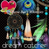 Dream Catcher Graphic, Feathers and Beads