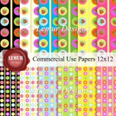 Commercial Use Papers Pack1 by Lemur Designs