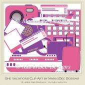 She Vacations Clip Art by MarloDee Designs