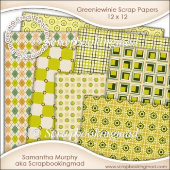 Greeniewinie Scrapbook Papers 12 x 12