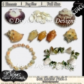 SEA SHELLS I CU4CU PACK - FULL SIZE